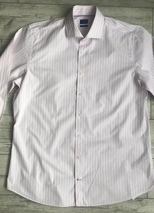Сорочка\рубашка joop! panko slim fit textured striped shirt