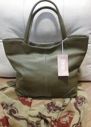 Итальянская кожаная сумка vera pelle