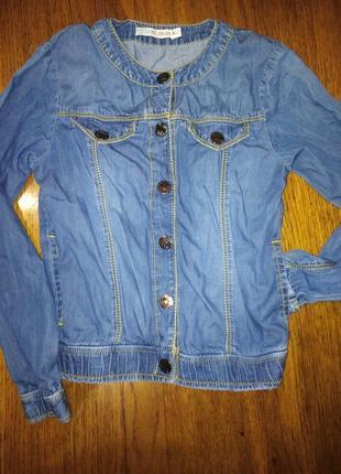 Джинсовая куртка  orby на рост -122/128 см.