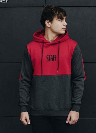 Толстовка staff red and black fleece