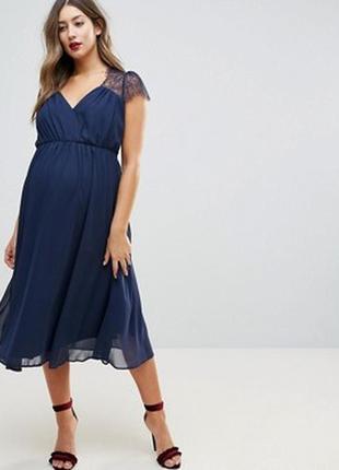 Роскошное вечернее платье миди для беременной!