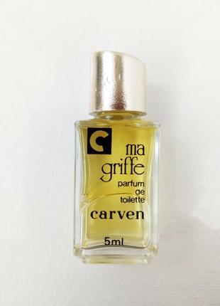 Винтажная миниатюра ma griffe carven 5 мл., редкость, оригинал, женские