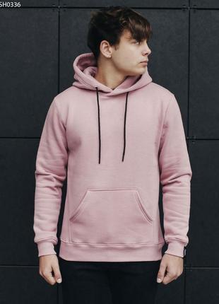 Толстовка staff dark pink fleece basic
