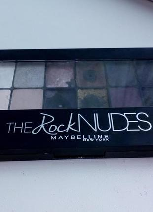 Качественная палетка 12 теней , мэйбилин the rock nudes