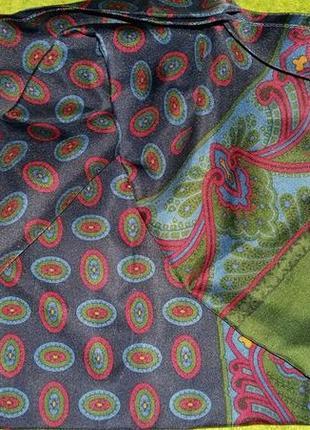 Эксклюзивный шелковый мужской шарф от люкс бренда lanvin.оригинал