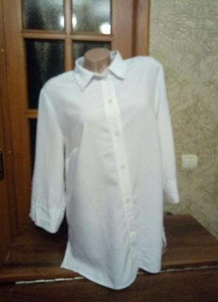 Блуза офисная классическая белая