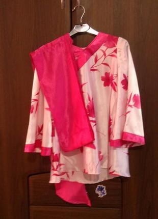 Карнавальное  платье гейши для девочки