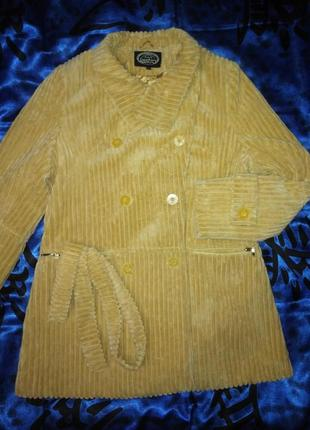 Шикарное  пальто lestra крупный вельвет 52 р.