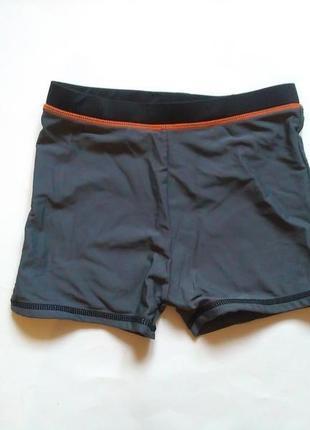 Серые плавки на мальчика 7-8 лет для бассейна или пляжа