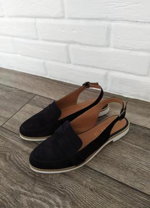 Стильные  кожаные лоферы босоножки сандалии мюли