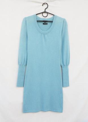 Шикарное теплое облегающее платье с длинным рукавом кашемир шелк 🌿