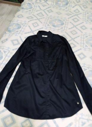 Темно синя блуза