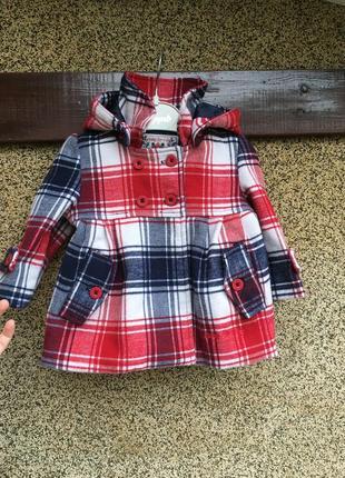 Стильное кашемировое пальто, пальто для малышки,пальто в клетку, красное пальто