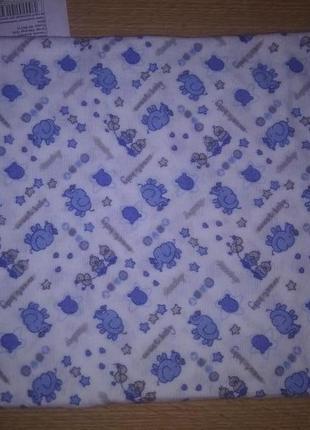 Пеленка фланель синие слоники размер 90/95*110