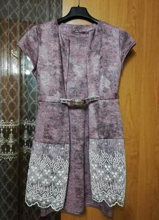 Эллегантное платье с накидкой