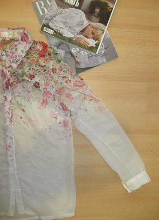 Блуза с цветочным узором