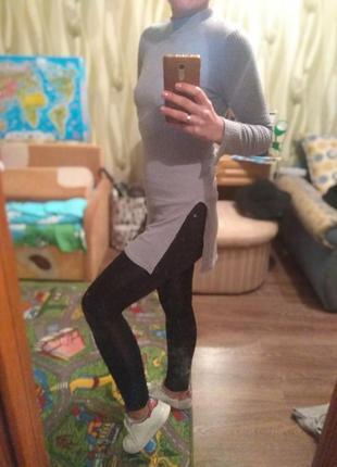 Платье свитер зима