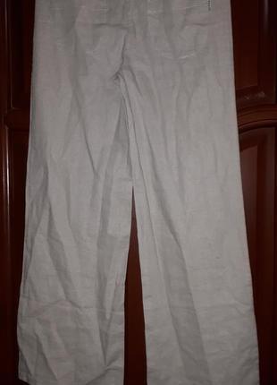 Льняные брюки на завязках