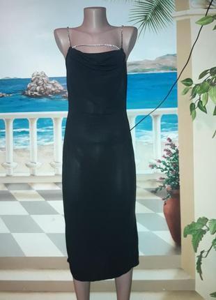 Вечірня сукня чорного кольору з камінням!!!