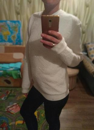 Свитшот свитер оверсайз зима