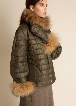 Женская зимняя куртка anna yakovenko xl, 48-50р, мех лисы теплая куртка