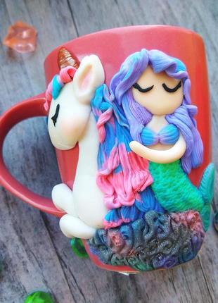 Чашка с декором hand made