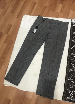 Брюки шерстяные с кантиком брюки шерстяные тёплые зимние штаны укорочённые тёплые шерсть