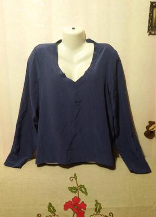 Натуральная шелковая блуза (пог- 58 см)