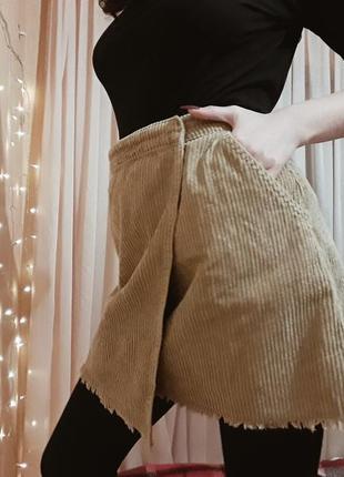 Вельветовая юбка на запах