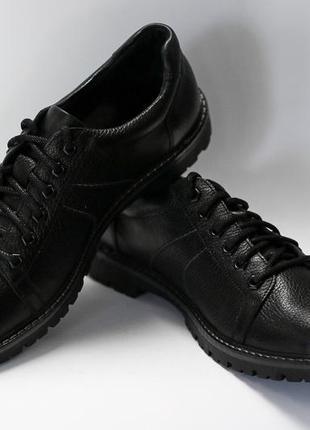 Мужские туфли кожаные осень