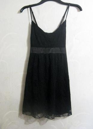 Мини платье sill belles короткое чёрное коктейльное на бретельках гипюр ажурное бант