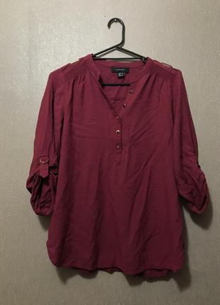 Рубашка классическая бордо марсала atmosphere