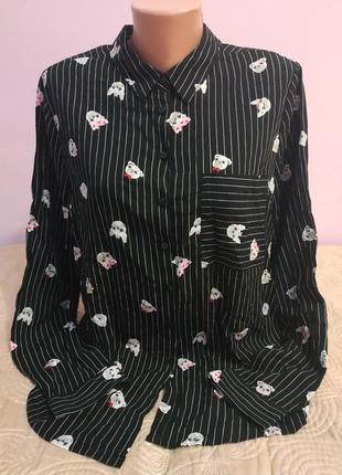 Новая рубашка/блуза в полоску от fb sister