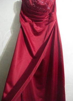 Платье berkertex emily fox вечернее выпускное бордо марсала красное бургунди бисер