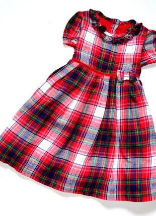 George. красивое пышное платье в клетку. 18-24 мес. рост 86-92 см