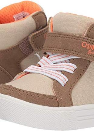 Сникерсы хайтопы oshkosh высокие детские теплые кроссовки