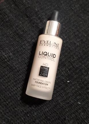 Eveline liquid control hd drops foundation жидкая тональная основа 05 ivory