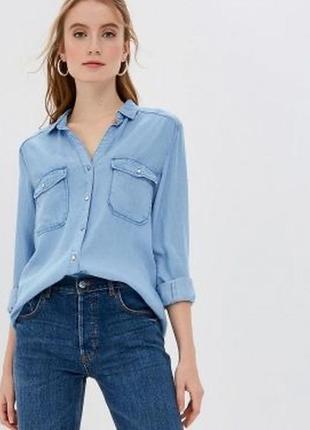 Стильная рубашка oversize с накладными карманами