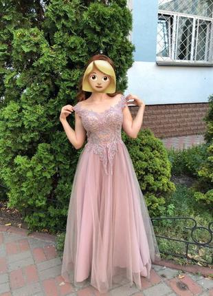 Вечернее платье. нарядное платье. свадебное платье. выпускное платье на 160 см. s