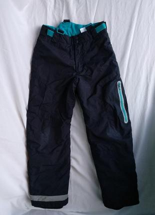 """Термо-штаны """"h&m"""" р.146 мальчику 10-11лет, зимние лыжные брюки на мембране"""