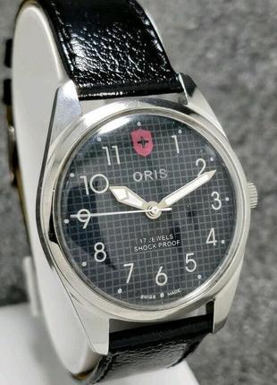 Мужские механические винтажные часы oris швейцарские 80s bw01 38 мм