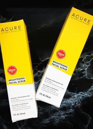 Acure,brightening,скраб для лица