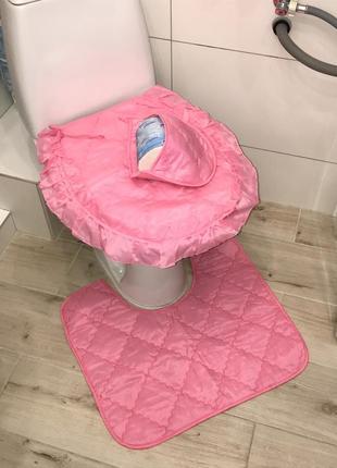 Чехол на унитаз коврик в ванную под унитаз