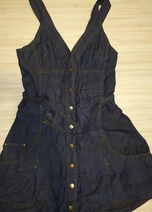 Джинсовое платье-сарафан qed london, m-l