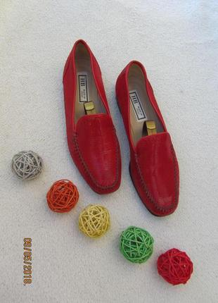 Натуральные итальянские кожаные туфельки