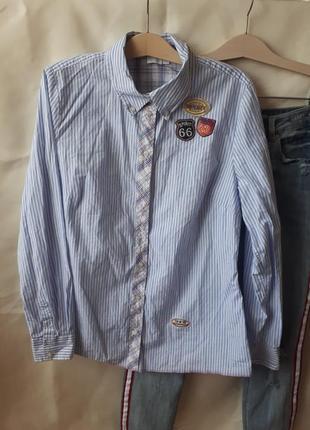 Рубашка с нашивками alba moda