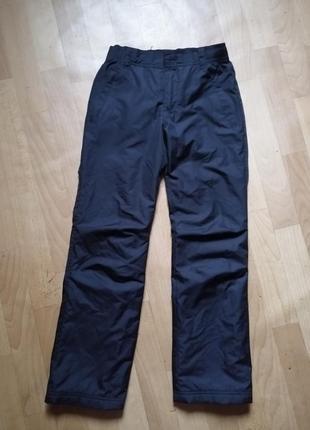 Зимние брюки для мальчика на флисе, р 146