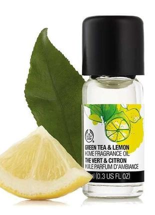 Арома-масло зелёный чай и лимон the body shop 10 мл