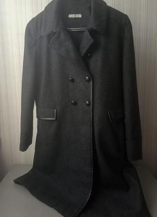 Шерстяное двубортное пальто kookai