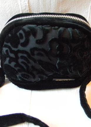 Маленькая бархатная сумочка через плечо от esprit rayon--silk